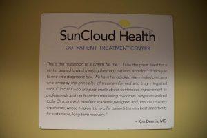 SunCloud Health Outpatient Treatment Center inspirational mission statement