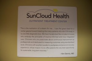 SunCloud Health Outpatient Treatment Center inspirational mission statement