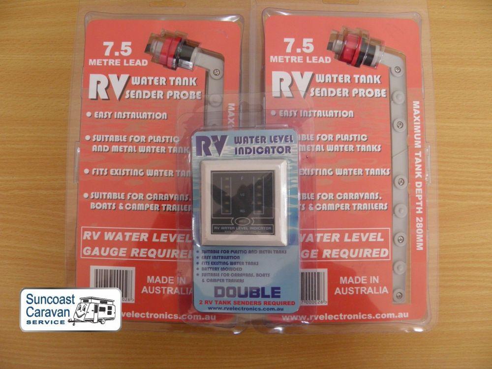 medium resolution of 7 5m caravan twin 2 water tank level indicator gauge senders