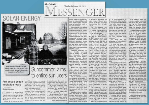 St Albans Vermont Newspaper - Year of Clean Water