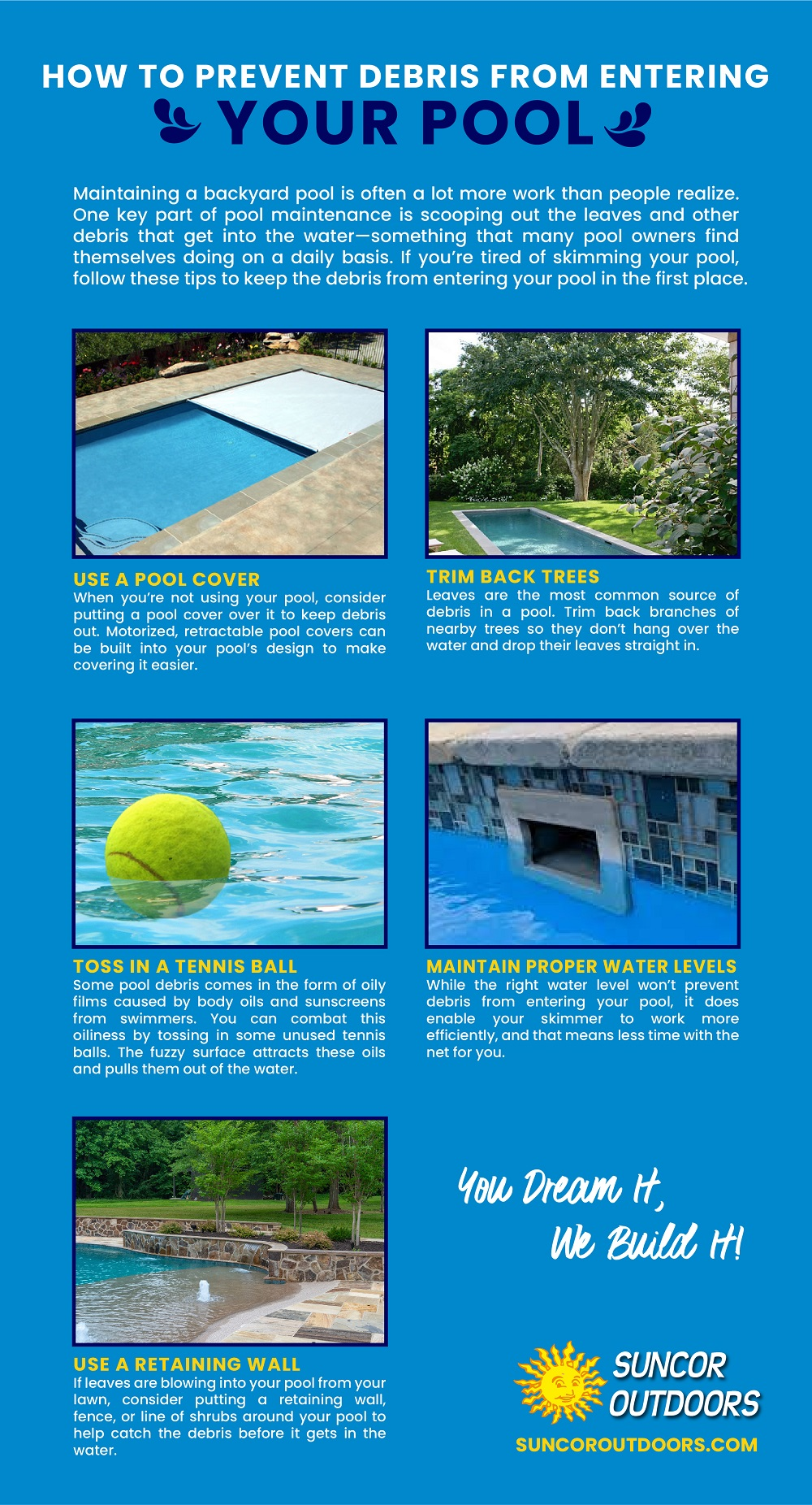 Follow These Tips to Prevent Debris from Entering the Pool