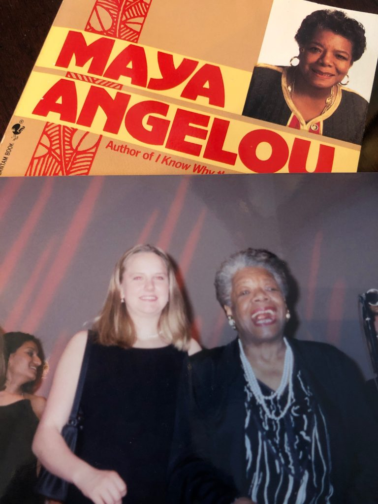 Juliet & Claire both took a course with Dr. Angelou at Wake Forest University in different years!