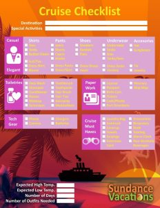 Cruise Vacation Checklist Sundance Vacations