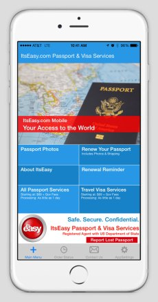 ItsEasy Passport App Main Screen - Sundance Vacations Blog