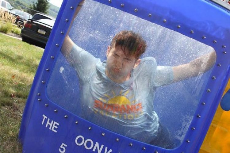 dunk tank dunking managers for charity