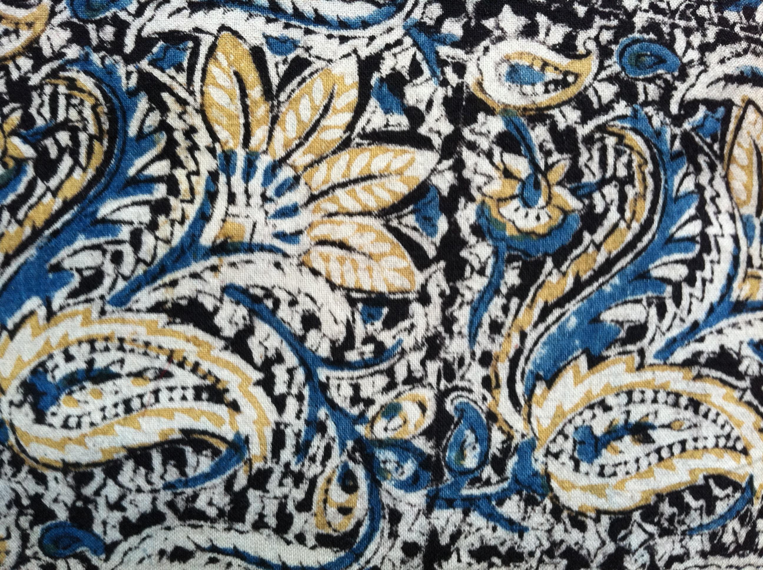 Floral Kalamkari Fabric Sundara Fabrics