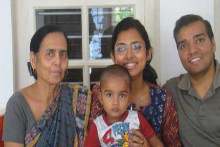 Guests of the Only Vegetarian Homestay in Wayanad Mummy, Soma, Gaurav Aggarwal and Shlok
