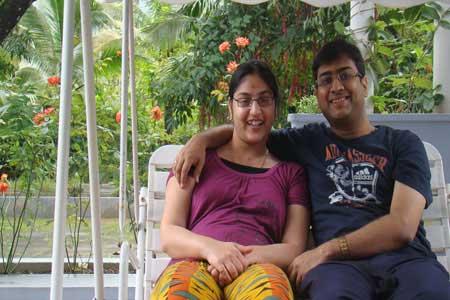 Pure Vegetarian, Jain food, Vegan Homestay Guests Raushini and Abhishek