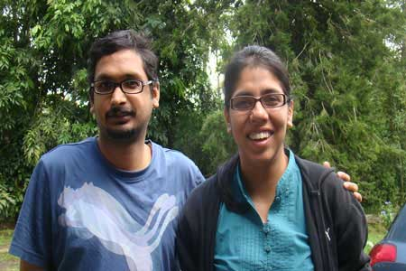 Pure Vegetarian, Jain food, Vegan Homestay Guests Ravi Paritosh and Reshma