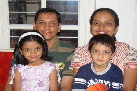 Guests of the Only Vegetarian Homestay in Wayanad - Megha, Karthik Balakrishnan, Janaki and Aakash