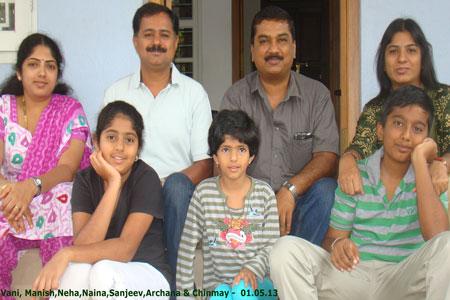 Sundara Mahal Vegetarian Homestay guests Archana and family