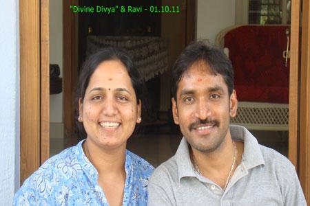 Sundara Mahal Vegetarian Homestay guests Divya and family
