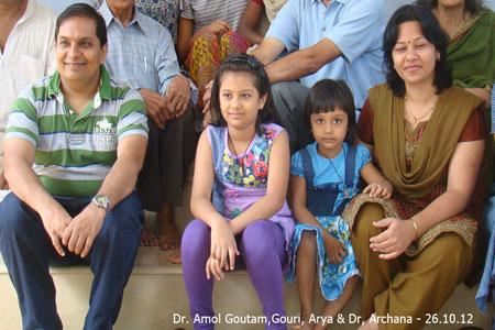 Sundara Mahal Vegetarian Homestay guests Dr Archana and family