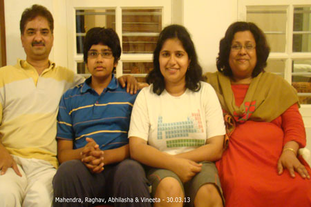 Sundara Mahal Vegetarian Homestay guests Mahendra and family