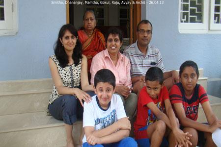 Sundara Mahal Vegetarian Homestay guests Mamatha and family
