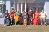 Sundara Mahal Vegetarian Homestay guests Priya and family