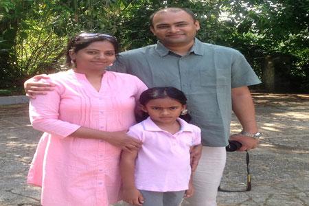 Sundara Mahal Vegetarian Homestay guests Rashmi and family