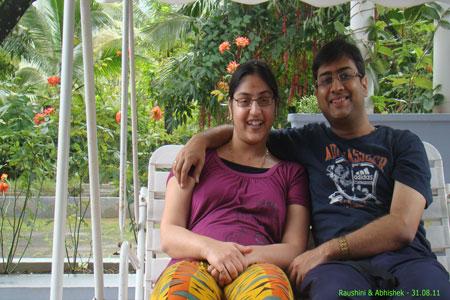 Sundara Mahal Vegetarian Homestay guests Raushini and family