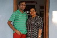 Sundara Mahal Vegetarian Homestay guests Reena and family