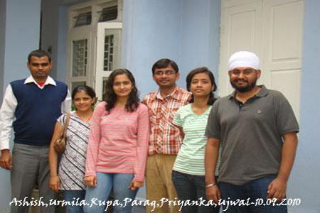 Sundara Mahal Vegetarian Homestay guests Ujwal Grover and friends