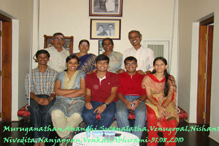 Sundara Mahal Vegetarian Homestay guests Venkat and family