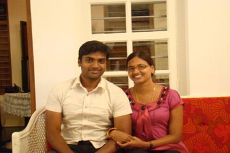 Sundara Mahal Vegetarian Homestay guests Lalitha and family