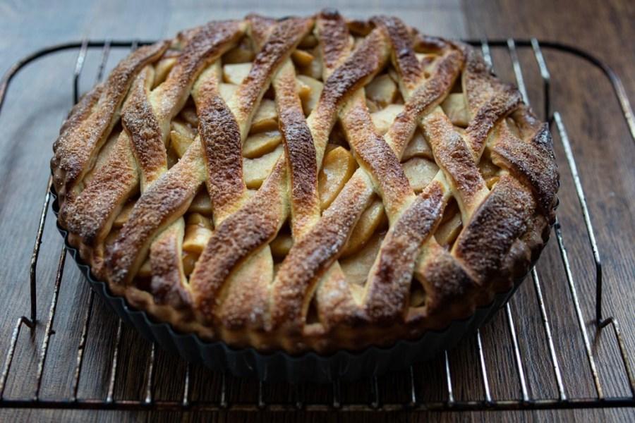 Baked appelvlaai tart