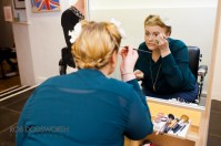 One of our attendees Emma, putting into practice her new make-up skills. Photography by www.robdodsworth.co.uk