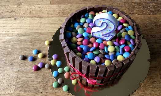Smarties Geburtstagskuchen Sunday Cake