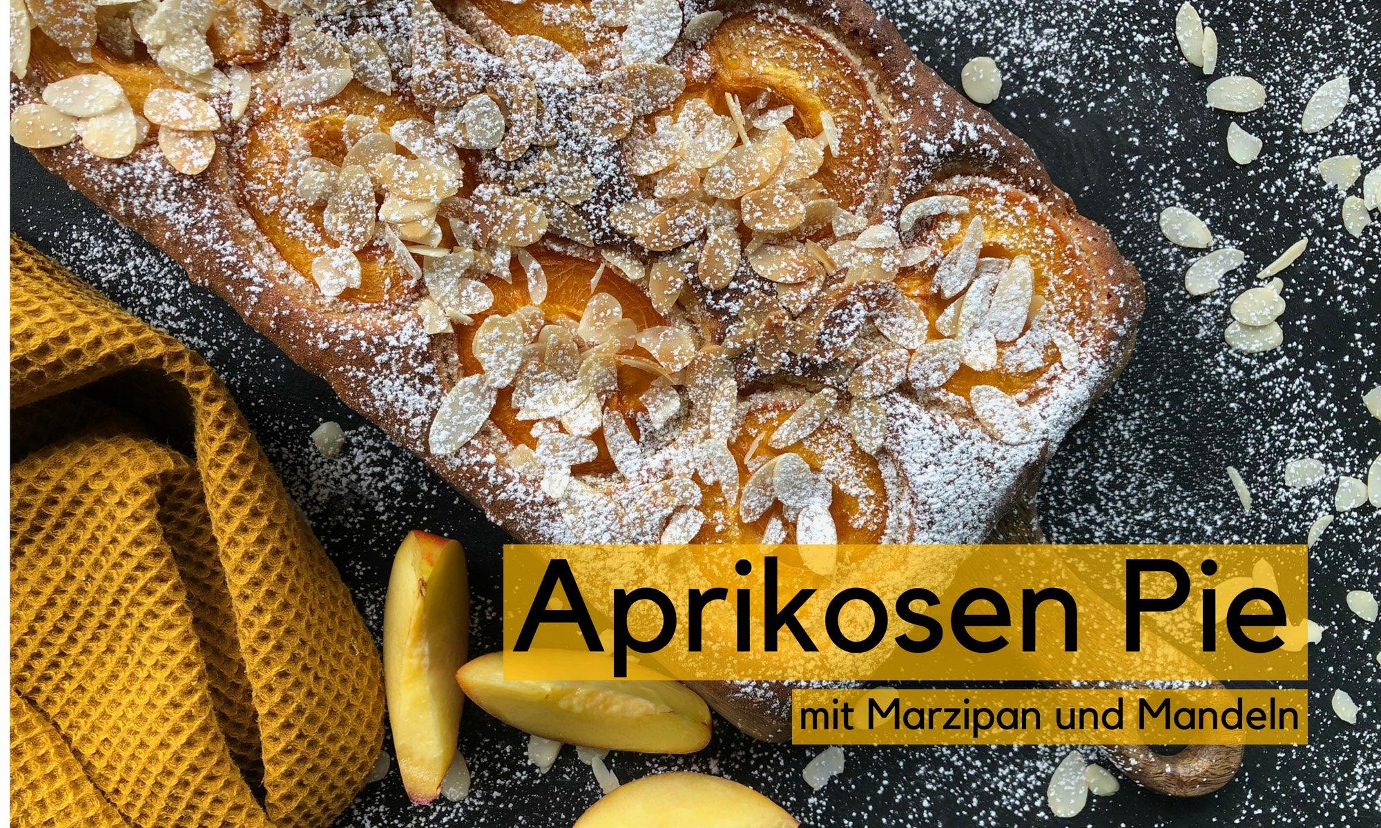 Aprikosen Pie mit Marzipan und Mandeln