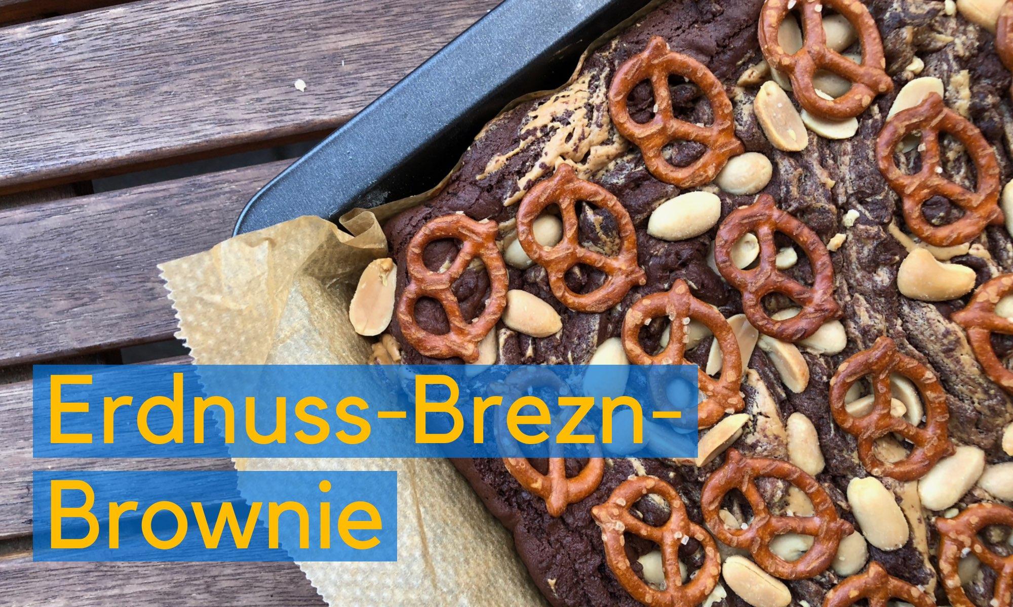 Erdnuss-Brezn-Brownie