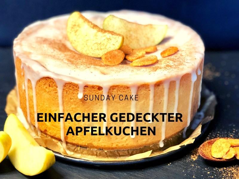einfacher gedeckter Apfelkuchen