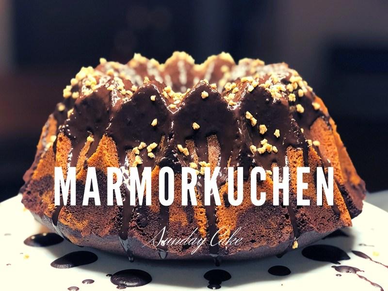 Marmorkuchen mit Schokoladenguss