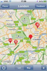 Mapa com pontos de interesse