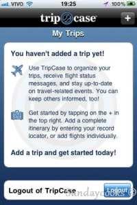 TripCase gerenciador de reservas de viagem