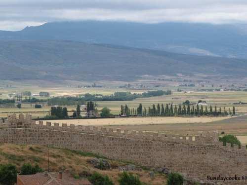 horizonte muralhas medievais de ávila