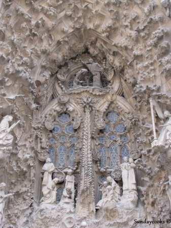 detalhe da fachada da sagrada familia