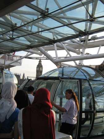 na fila do London Eye