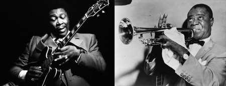 BB King e Louis Armstrong