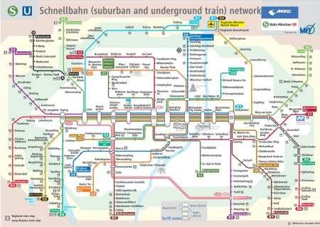 Dicas e roteiros de Munique - Mapa do metrô