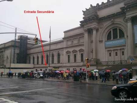 Metropolitan Museum Nova York - entrada secundária