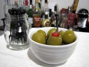 Receitas de Tapas e canapés - azeitonas recheadas