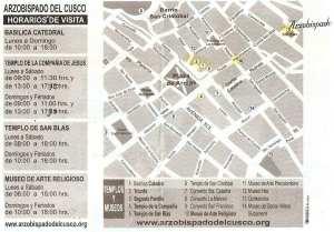 Boleto religioso de Cusco - verso
