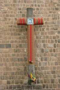 Boleto religioso de Cusco - sincretismo na cruz