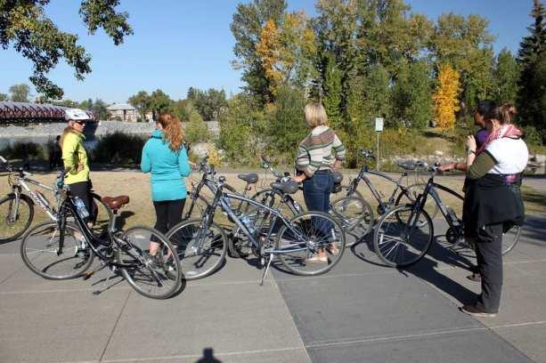 Explore Canada - Andando de bicicleta em Calgary