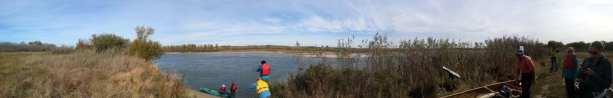 CanoeSki - Panorâmica do ponto de partida no rio Saskatoon