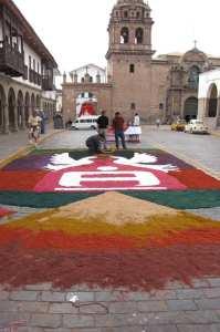 Cenas de Cusco - tapetes comemorativos