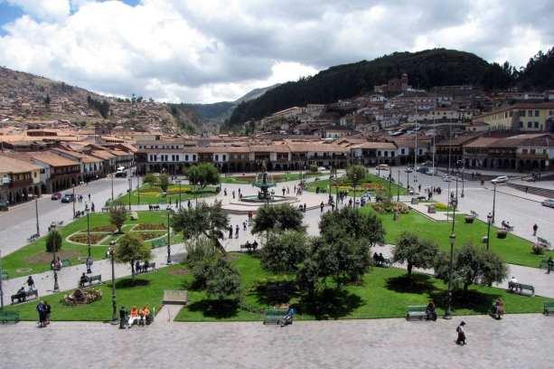 Cenas de Cusco - Plaza de Armas vista de cima