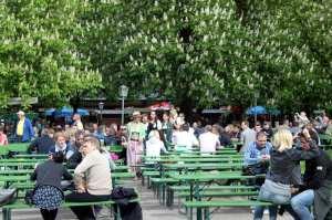 English Garden de Munique - aproveitando o verão