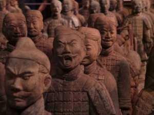 Guerreiros de terra cota na parte chinesa do Epcot